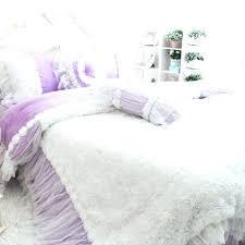 cottage bedding set rose ruffle duvet cover light purple shabby chic bedroom sets vintage p