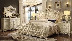 Antique White Bedroom Furniture Sets Bedroom Set Gold Tufted ...