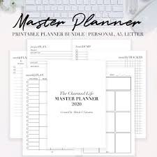 2020 Master Planner Printable Personal A5 Letter