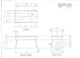 dining table woodworkers: dining table blueprints brun dog dining table plan dining table blueprints
