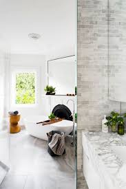 Stylish White Bathroom With Fireplace Designs