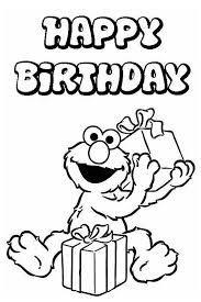 elmo birthday coloring pages. Brilliant Birthday Coloring Page With Balloons Great Cake For Your Birthday Happy Birthday  Elmo For Coloring Pages N