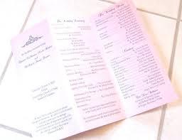 Examples Simple Wedding Program Template Best Of Free Menu Templates