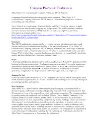 Sample Company Report 24 Company Profile Example Example College Resume 17