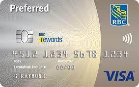 rbc rewards visa preferred credit card