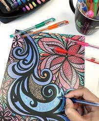 Try using gel pens on your next coloring page! 15 Adult Coloring Book Mistakes And How You Can Fix Them Colorit
