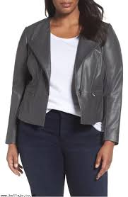 h7fpkp leather collarless jacket women s jackets