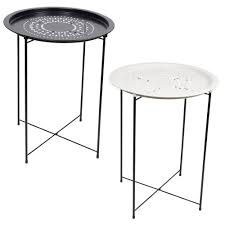 round folding table outdoor metal