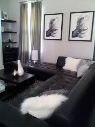 Small Modern Space In Black And White Modern Living Room Other Custom White Modern Living Room Ideas