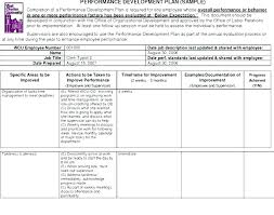 Personal Improvement Plan Template Pip Performance Improvement Plan Template