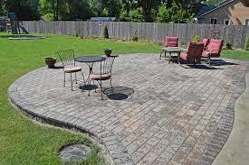 finished raised paver patio finished raised paver patio