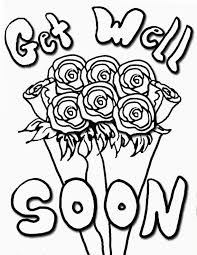 Get Well Soon With Roses Coloring Pages Enjoy Coloring Get Well
