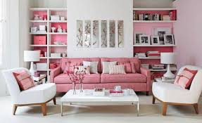 Romantic Living Room Decorating Romantic Living Room Decor Ideas With Pink And White Colour