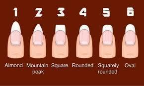 Fake Nail Type Chart Nail Chart Nails Nail Designs Different Nail Shapes