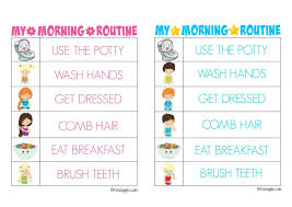 Free Morning Routine Chart Pictures Printable Morning Routine Charts Morning Routine Chart