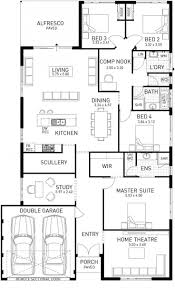 narrow lot one story house plan extraordinary best plans images on single story house plans