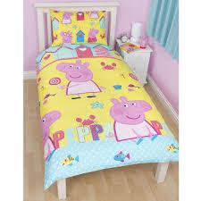 Childrens/Kids Peppa Pig Reversible Quilt/Duvet Cover Bedding Set & ... Peppa Pig Reversible Quilt/Duvet Cover Bedding Set. UTKB680 Adamdwight.com