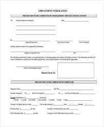 Free Employment Verification Form Template Sample Employee Address Forms 100 Free Documents in Word PDF 91
