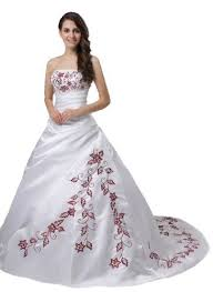 15 best wedding dresses amazon reviews images on pinterest Wedding Gown Xxl faironly m56 red embroidery white wedding dress *** click the picture to learn more wedding gown labels