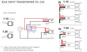 pair silk supermally mc 220 step up transformers and here is an image of the wiring setup for the tx s
