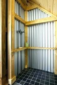 galvanized shower walls showers corrugated metal how to install home ideas w galvanized shower walls