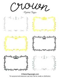 Printable Tag Templates Printable Name Tag Template For Kids Refund Free Tags Templates