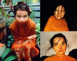 bjork s visual just like her unique has always been a showstopper and a topic maker in social a colorful masks weird hairstyles and alien