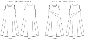 A Line Dress Pattern Classy Christine Jonson 48 ALine Dress