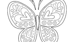 Butterflies Coloring Pages Simple Butterfly Coloring Pages