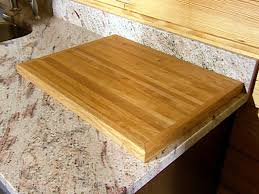cutting board created from reclaimed wood flooring