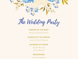 Wedding Program Designs Free Online Wedding Program Maker Design A Custom Wedding Program