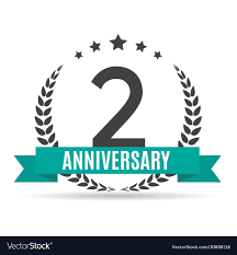Anniversary Template Template Logo 2 Years Anniversary Royalty Free Vector Image