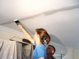 ceiling crack repair. Perfect Repair Sand And Paint Area Intended Ceiling Crack Repair T