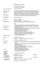 General Manager Resume Samples General Manager Resume Example Job