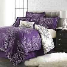 wongs bedding purple bedding sets tree branch duvet cover bed set 2 pillowcases double queen king