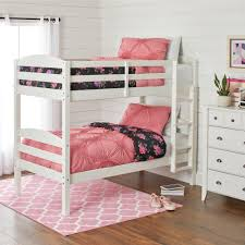 better homes gardens leighton twin over twin wood bunk bed white