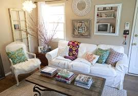 shabby chic furniture colors. Shabby Chic Living Room Decor With Light Brown Wall Color And Antique Table Iron Legs Furniture Colors