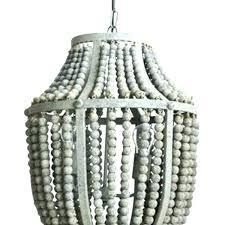 wood bead pendant light white chandelier