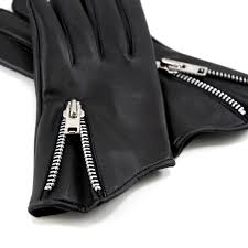 throttle black leather gloves men s