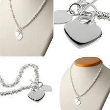 tiffany inspired silver heart sweetie necklace engraving available