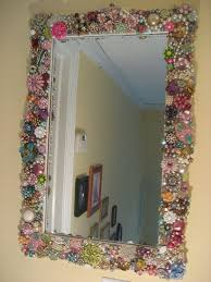 Diy mirror frame ideas Wood Vintage Jewelry Mirror Frame Pinterest Ways To Upcycle Old Mirrors Diy Décor Ideas Jewelry Frames