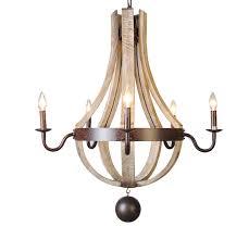 french country wood metal wine barrel chandelier pendant 5 lights rh 30 w 30 l 36 h com