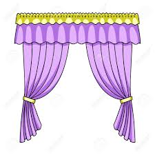 Curtains with drapery on the cornice.Curtains single icon in cartoon style  vector symbol stock