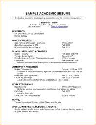 Scholarship Resume Template