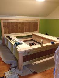 storage bed plans. Simple Woodwork King Size Platform Bed Plans With Drawers PDF Storage