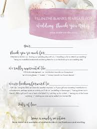 Wedding Thank You Notes Templates 7 Thank You Card Wording Ideas A Template To Make Writing