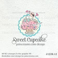 Cute Cupcake Cupcake Logo Bakery Logo French Adorable Logo Buy