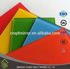 colored mirror tinted sheet glass with custom shape for decoration