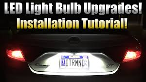 Toyota Camry License Plate Light Replacement Led License Plate Bulb Upgrade Installation Tutorial 2015 Toyota Camry Xse Demo