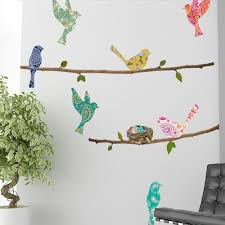 Paisley Birds and Branches Wall Decals | Bird branch, Paisley ...